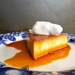 Mexican Flan: Step by Step Easy Mexican Flan  Ingredients:  1 can (14 ounces) sweetened condensed milk  1 ¼ cup (14 ounces) milk  4 large eggs  For the caramel: ½ cup sugar