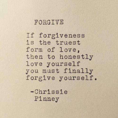 And forgive others, when you can put yourself and God in your mind only for the majority of the time you've got peace loving yourself