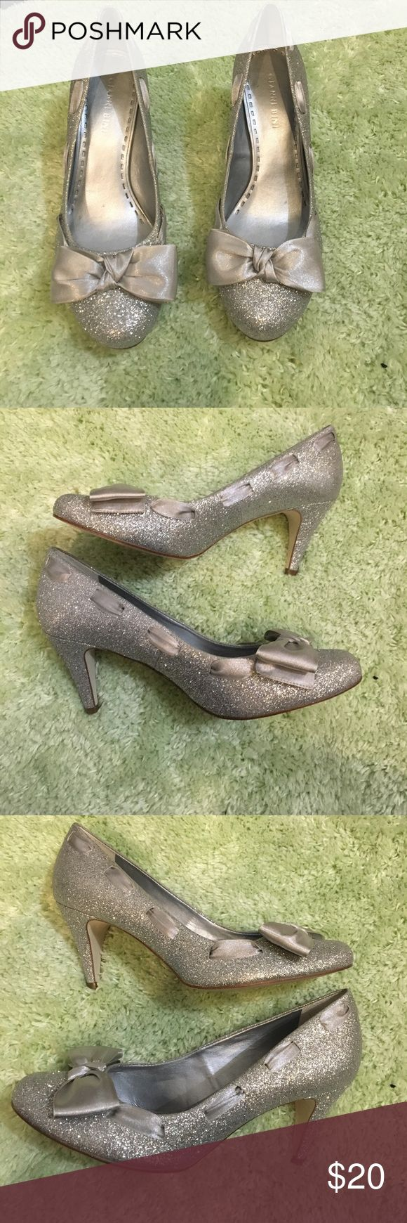 Gianni Bini Silver Sparkle Heels Size 8 New! Never worn, spot on bottom of shoes is from Dillard's price tag. Super sparkly! Perfect condition! No signs of wear at all!! Gianni Bini Shoes Heels