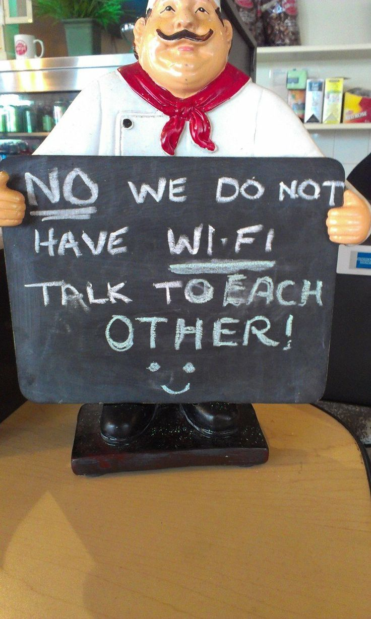 Image result for no we do not have wifi