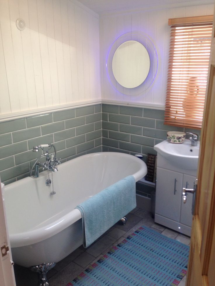 Good Newly installed bathroom with skirting lights colour changing mirror and light sensor FarbeBadezimmerLondonBeleuchtungMirrors
