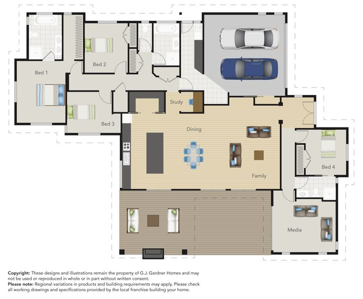 The great floor plan of this Tauranga G.J. Gardner Showhome! Would you love to live here? http://www.gjgardner.co.nz/show-home/view/20/tauranga