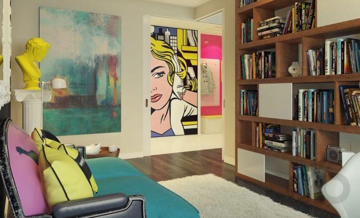 pop-art temalı apartman dairesi