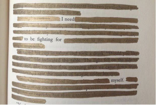 """""""I need to be fighting for myself."""" — #makeblackoutpoetry"""