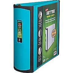 Staples Better View 3-Inch Slant D 3-Ring Binder, Orange (16405) | Staples
