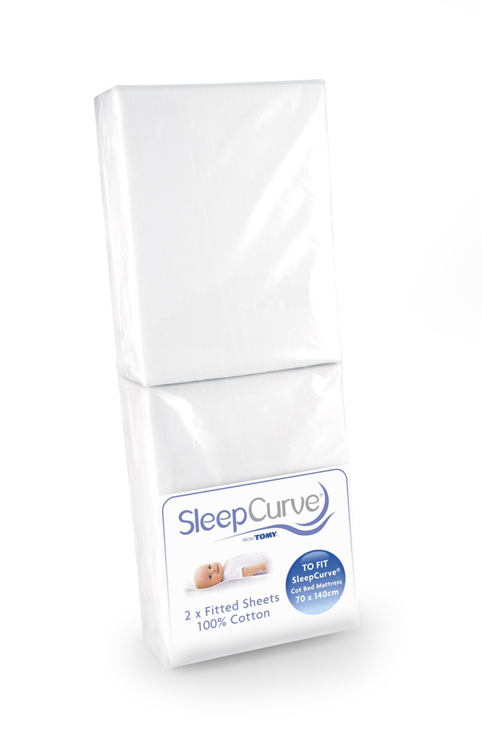 Tomy Sleep Curve Cot Bed Mattress Sheets 2 Pack Available Online At Http