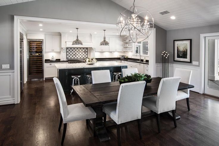 This chic open dining area was completed by Servigon Construction Group. #luxeDallas