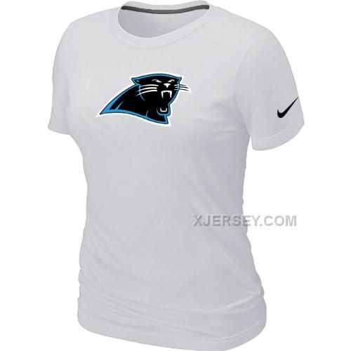 http://www.xjersey.com/carolina-panthers-white-womens-logo-tshirt.html CAROLINA PANTHERS WHITE WOMEN'S LOGO T-SHIRT Only $26.00 , Free Shipping!