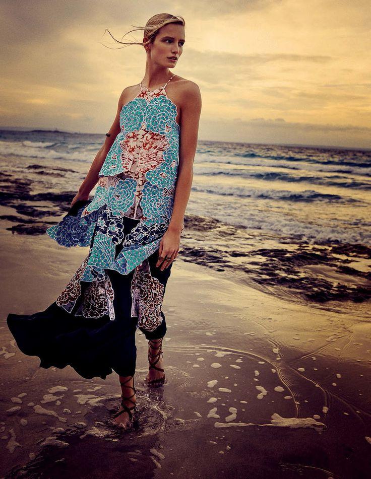 visual optimism; fashion editorials, shows, campaigns & more!: la isla bonita: maud welzen by david burton for elle italia july 2015