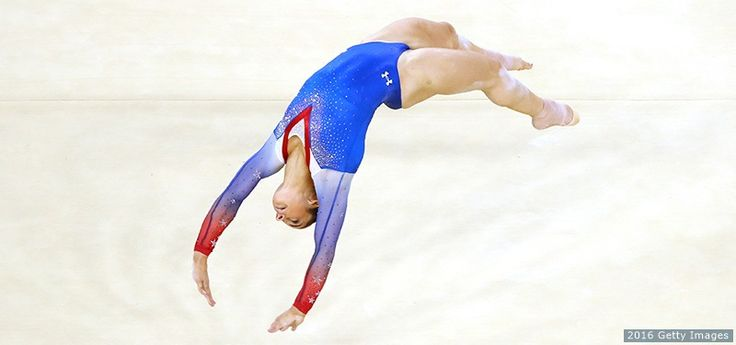 Aly Raisman competes on the women's floor exercise at the Rio 2016 Olympic Games at the Rio Olympic Arena on Aug. 16, 2016 in Rio.