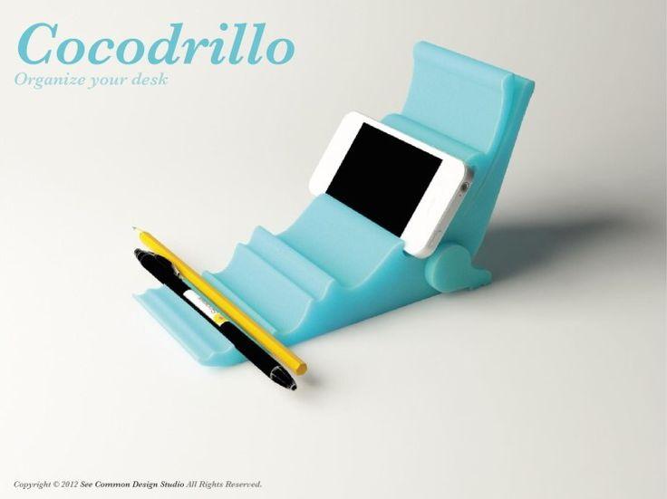 Cocodrillo desk organizer  Created by Seo Young Moon www.moondiii.com