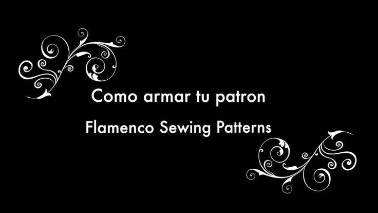 How to join together your PDF flamenco dance skirt pattern. Tutorial Còmo Armar tus Patrones de Flamenco