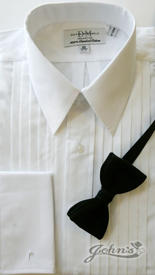 100% Cotton White Laydown Collar Shirt