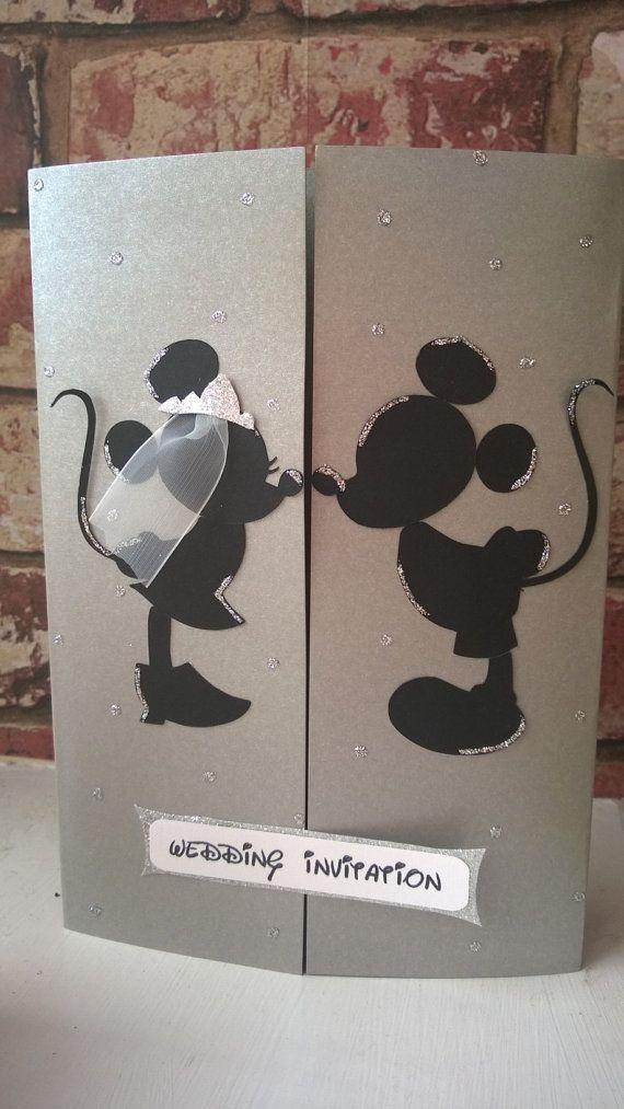 Minnie e Topolino matrimonio carta/invito di ange1edelights