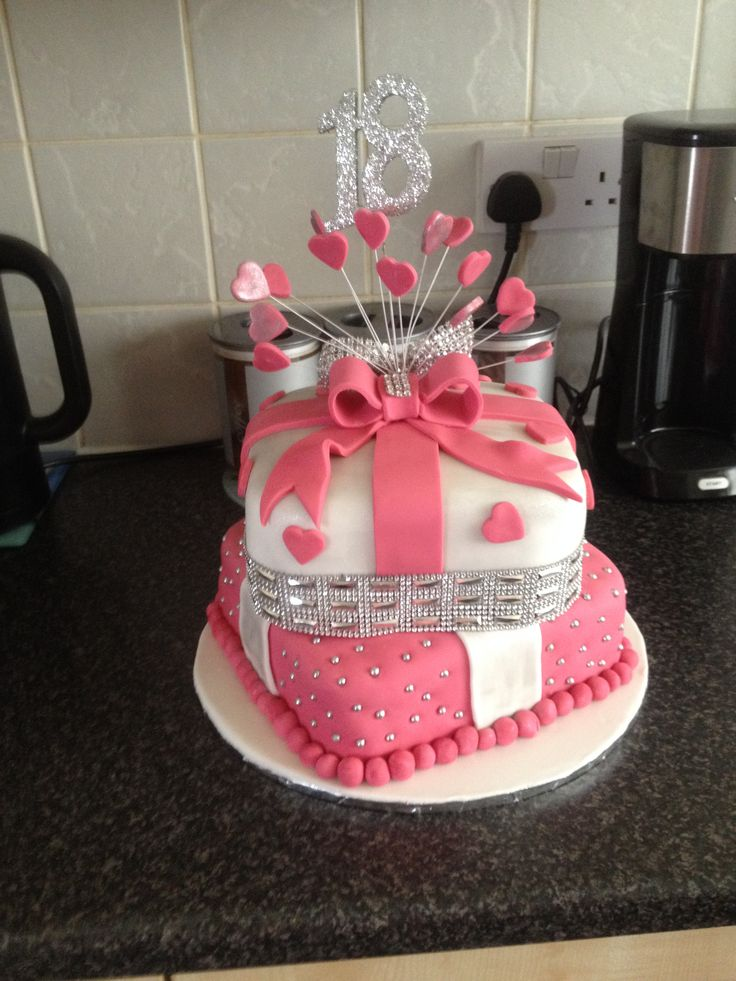 18 th 2 tier cake i made                                                                                                                                                                                 More