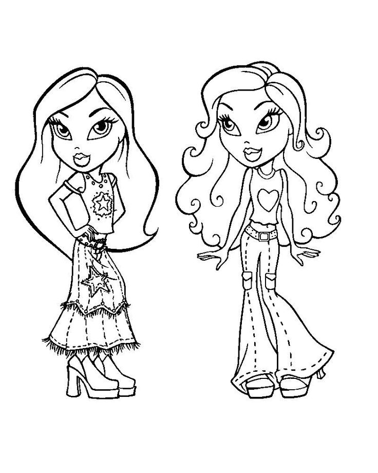 319 best Bratz color pages images on Pinterest Adult coloring