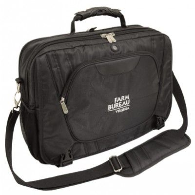 Lavish. Made from textured nylon. Large main zippered compartment with padded laptop holder and mesh pocket, Secondary compartment with two dividers and accessory pouches, Organiser and 2 large pockets under front flap with buckle closure, One large front zipper pocket with hidden hole for headphone, Elastic mesh pocket on both sides, Tow strap system at back to fit over trolley handle, Adjustable strap with large shoulder pad. (G3230_GRACE)