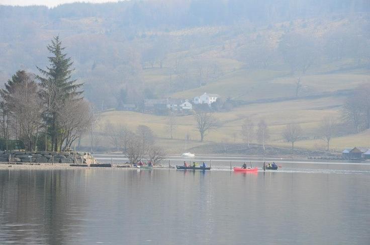 Foggy morning @ Coniston Boating Centre, Coniston, Cumbria (UK)