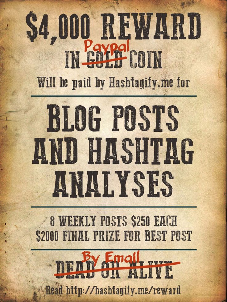 Hashtagify.me Blogging Competition