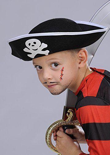 Kids Size Pirate Captain Boys Fancy Dress Hat