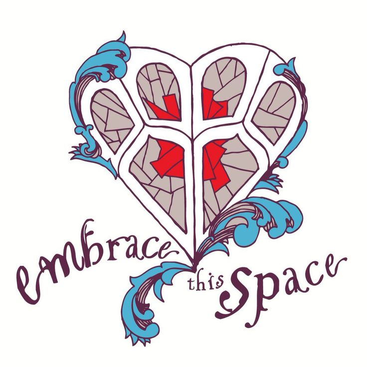 t-shirt design for @infinitecanvas by Inkling About Design www.inklingaboutdesign.com #embracethisspace #heart #stainedglass #illustration #handdrawn #tshirt #screenprint