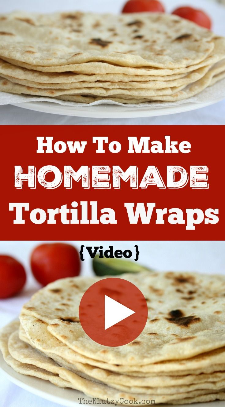 Watch how to make Homemade Tortilla Wraps.  They are easy to make and unlike store bought varieties, have real flavour.