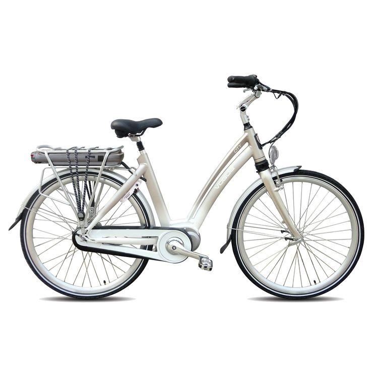 Vogue Elektrische fiets City dames grijs 50cm 468 Watt Grijs  Description: De Vogue City is een zeer luxe elektrische fiets met krachtige middenmotor. Doordat de motor in het midden is geplaatst ligt het zwaartepunt van de fiets laag iets wat de wegligging zeer ten goede komt. Halfords Bike Lease geeft je de mogelijkheid een elektrische fiets te leasen in plaats van te kopen! Hierdoor heb je de zekerheid dat je nooit voor vervelende verrassingen of dure reparaties komt te staan. De beproefde…