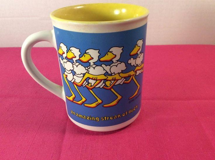 Vintage Enesco Coffee Cup/Mug An Amazing Streak of Duck Tales John Baron 1985 #Enesco