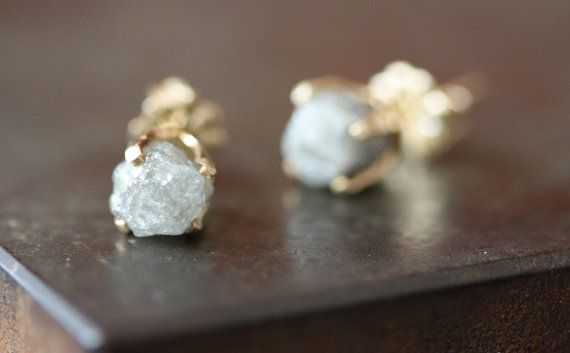 Beautiful, icy rough diamonds.