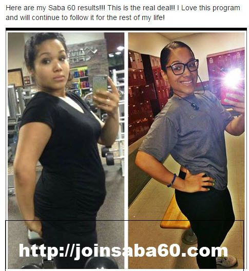 Check out Diona's fabulous results!!  Our Saba 60 Program comes with Saba ACE G2!  Get yours today at http://joinsaba60.com!