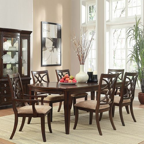 HomeVance Hansford 7 Piece Extendable Forma Dining Set