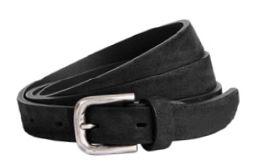 Buckles & Belts - Belt/Gürtel - NOS Collection 2016 - Torean - Nubuk-Leather - nero - black - Design in SWITZERLAND made in ITALY https://www.facebook.com/BucklesBelts