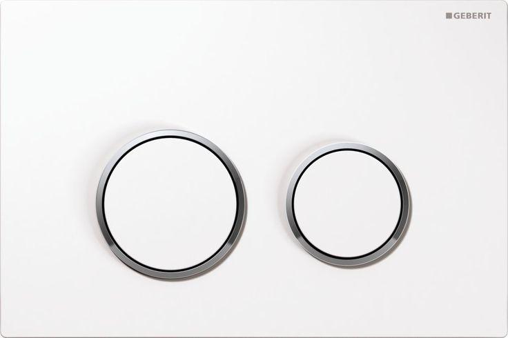 Geberit Sigma 20 bedieningsplaat (kleuren: plaat/ring/knop) Wit-Chroom-Wit
