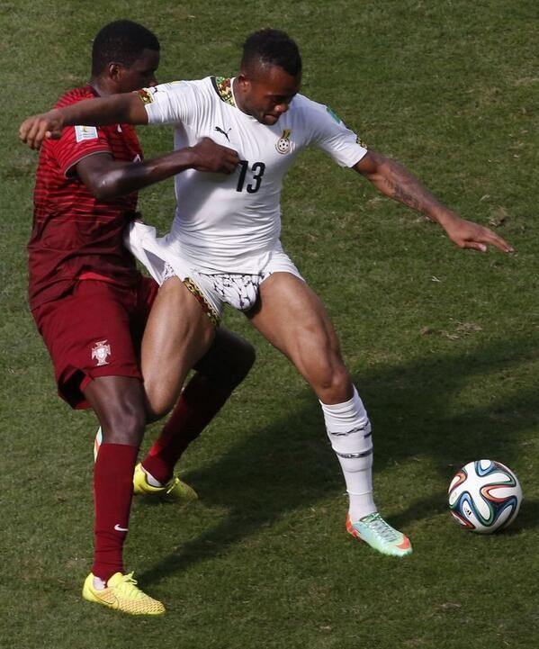 Wedgie! (Man United target) William Carvalho pulls Jordan Ayew's ...