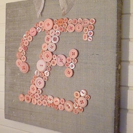 Nursery Decor, glue or stitch on letters, maybe put scrapbook paper on the canvas to spice it up/match theme