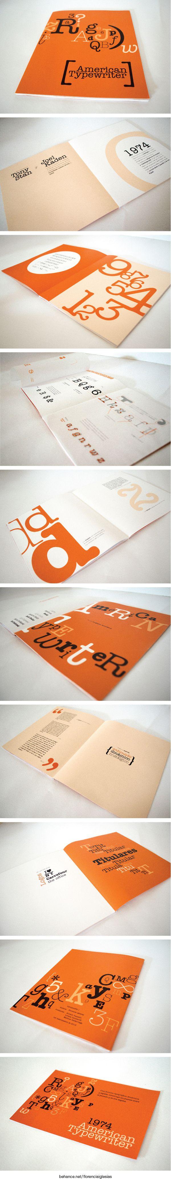 Libro tipográfico - American Typewriter by Florencia Iglesias, via Behance