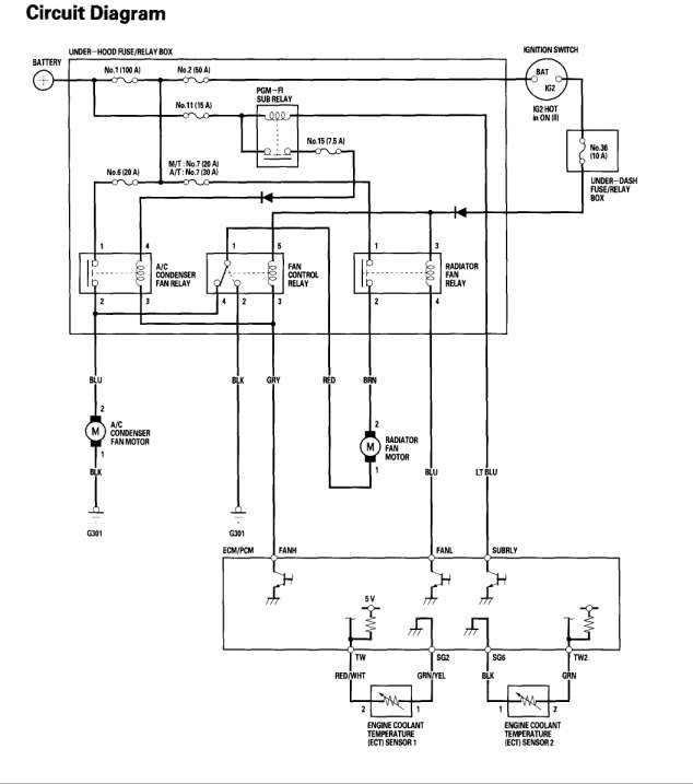 car condenser fan wiring diagram and honda civic cooling fan