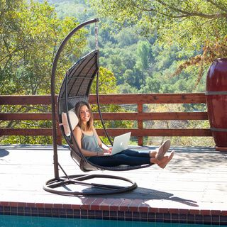 Christopher Knight Home Outdoor Brown Wicker Swinging Lounge Chair   Overstock.com Shopping - Great Deals on Christopher Knight Home Hammock...