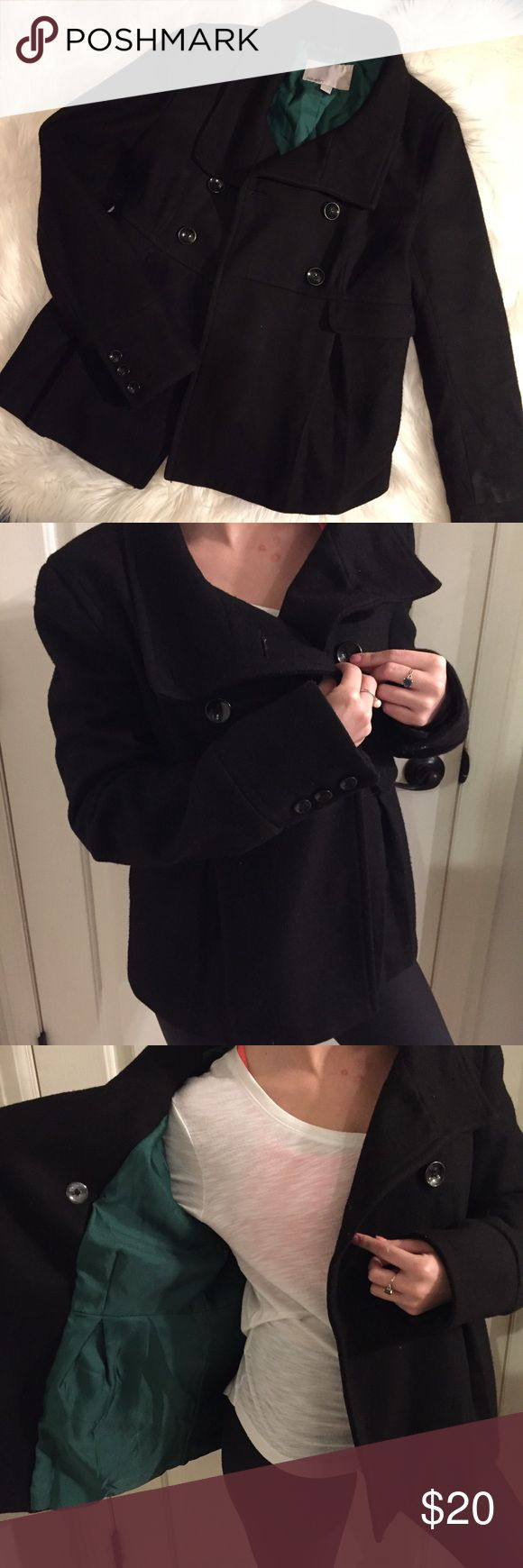 Old Navy Pea Coat - Small Old Navy Black Pea Coat, Women's Small, Excellent Condition. Fully lined. Cute details in stitching and buttons. Longer sleeve. Side pockets. Smoke-free home. Old Navy Jackets & Coats Pea Coats