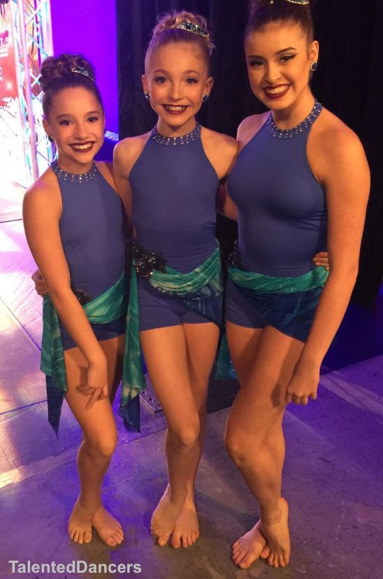 Mackenzie Ziegler, Brynn Rumfallo, and Kalani Hiliker in their new trio