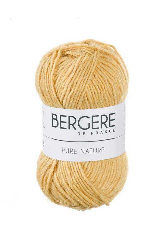 PURE NATURE  Needles - Aiguilles 5.5  Crochet hook - Crochet 5.5  50% Alpaga - Alpaca  50% Laine peignée - Worsted wool