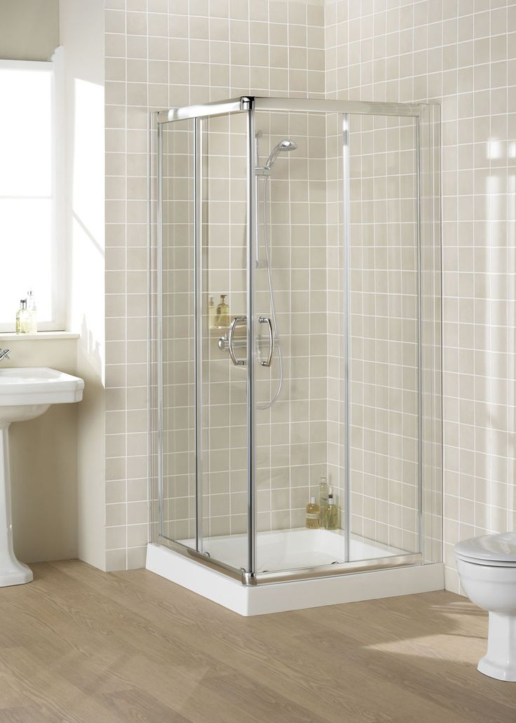 Semi-Frameless Corner Entry Shower Enclosure | Lakes Bathrooms