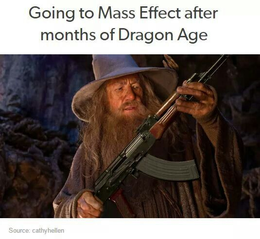 Not exactly cause i played Mass Effect first but yeah dis is funny...