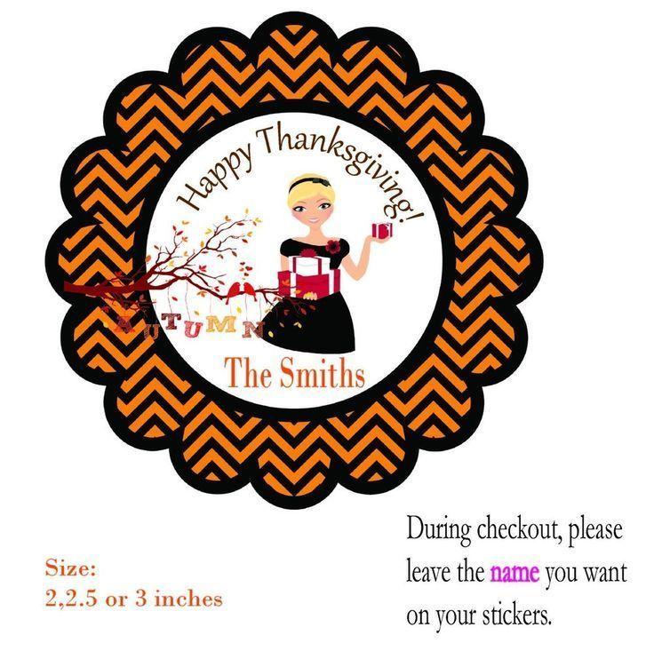 12 Thanksgiving  Teacher Gift, Personalized -Stickers Tags Favor Treat Bags  #ThanksgivingTeacherGift #TeacherGiftThanksgivingTeacherGift