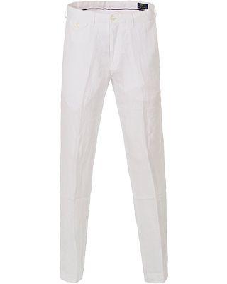 Polo Ralph Lauren Linen Trousers White