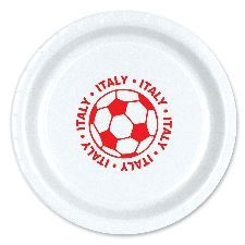 "Italy Football 9"" Paper Plates. Great to serve food and fit in with the Italy theme at Euro 2016. http://www.novelties-direct.co.uk/Italy-Football-9-Plate.html"