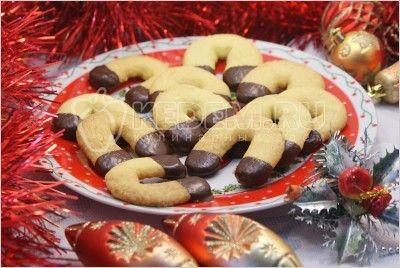 Новогоднее печенье «Подковы»