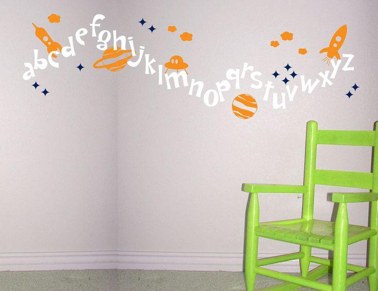 Bästa Alphabet Wall Decals Idéerna På Pinterest - Vinyl wall decals alphabet