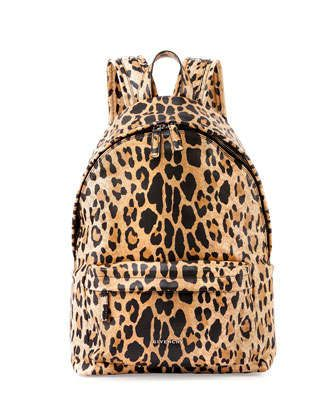 Antigona+Nylon+Backpack,+Leopard+Print+by+Givenchy+at+Neiman+Marcus.