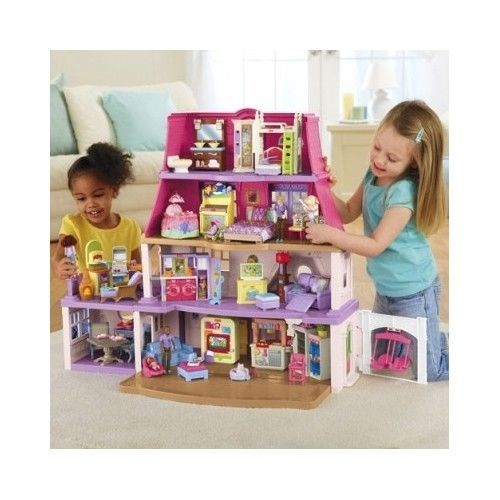Doll House Kit Children Girls Toys Miniature Play Collection Christmas Gift